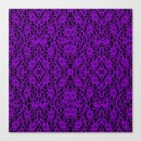 Royal Purple Lace Canvas Print