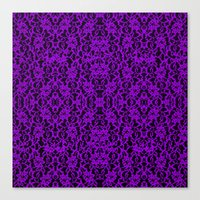 Royal Purple Lace Canvas Print