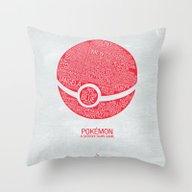 Pokemon Typography Throw Pillow