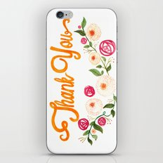 Floral Thanks iPhone & iPod Skin