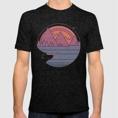 The Mountains are Calling Mens Fitted Tee Tri-Black SMALL