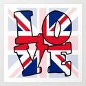 LOVE Union Jack Art Print