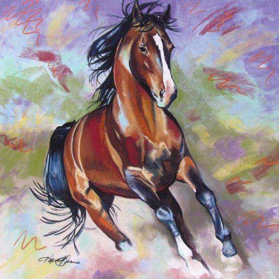 Contemporary Stallion Horse Painting Art Print