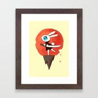 Samurai Bunny Framed Art Print