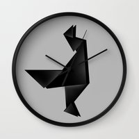 The wolf in my head Wall Clock