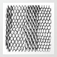 Pattern morph Art Print
