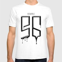 S6 TEE BLACK PAINT Mens Fitted Tee White SMALL