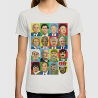 select your politic Womens Fitted Tee Silver SMALL