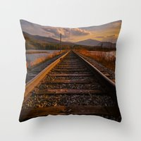 Grand Trunk Railway Throw Pillow