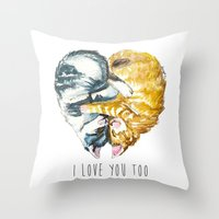 Cats Love . Valentine's Day Throw Pillow