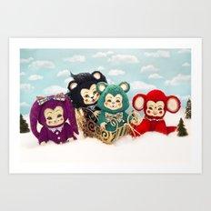 Bitsy toy Christmas Art Print