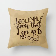 Marauder's Map - I solemnly swear that I am up to no good Throw Pillow