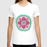 Suzani III Womens Fitted Tee White SMALL
