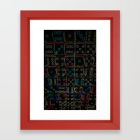 Diced 3D Framed Art Print