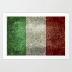 The National Flag Of Ita… Art Print