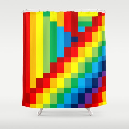 Fuzz Line #3 Shower Curtain