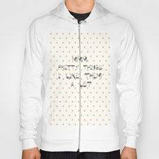 Mmm, pretty things ~ Polka Dots ~ poster ~ typography ~ illistration Hoody