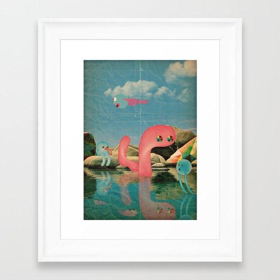 lago animato Framed Art Print