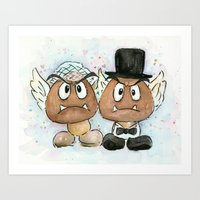 Goombas Bride And Groom,… Art Print