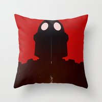 Iron Red Throw Pillow