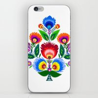 colorful folk flowers iPhone & iPod Skin