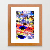Abstract watercolour collage painting Framed Art Print