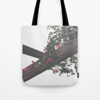 Wooden & Flowers Tote Bag