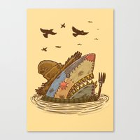 The Scarecrow Shark Canvas Print
