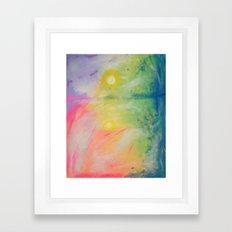 Impressions At Sundown  Framed Art Print