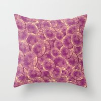 Pink Watercolor Abstract Throw Pillow