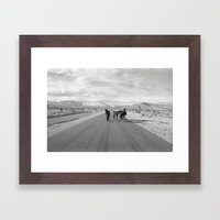 Spring Mountain Wild Horses Framed Art Print
