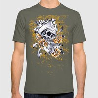 Pirate Skull Mens Fitted Tee Lieutenant SMALL