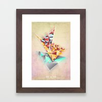 Triangle Rush! Framed Art Print