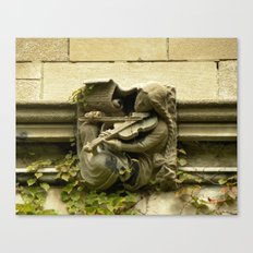 Musician Gargoyle, University of Chicago v.3 Canvas Print