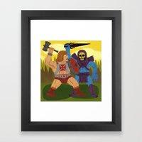 Good Versus Evil Framed Art Print