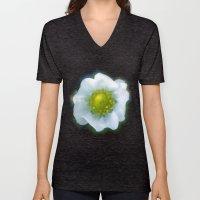 Art Style White Strawber… Unisex V-Neck