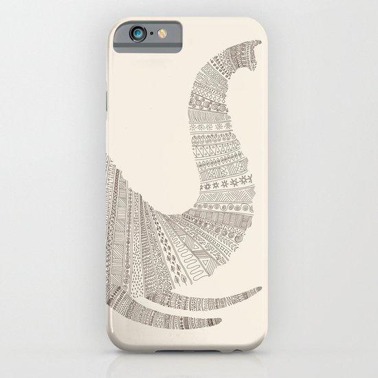 Elephant (On Beige) iPhone & iPod Case