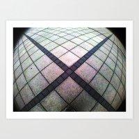 cross Art Prints featuring cross. by zenitt