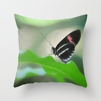 Butterfly garden Throw Pillow