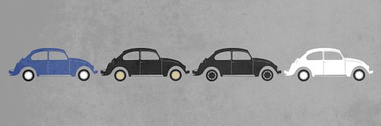 vw beetle abbey road  Art Print
