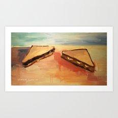 Talking Sandwiches Art Print