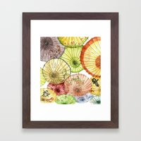 Paper Umbrellas Framed Art Print