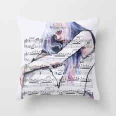 Waiting Place On Sheet M… Throw Pillow