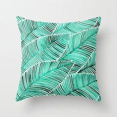 Tropical Turquoise Throw Pillow