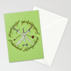 Glamdring Orcrist and Sting- The Hobbit Stationery Cards