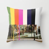 Garage Sale Painting Of … Throw Pillow
