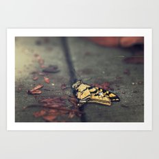 don't be afraid, it's only change Art Print