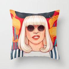 jazz art pop punk Throw Pillow