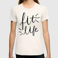 Fit Life - Fitness Hand … Womens Fitted Tee Natural SMALL
