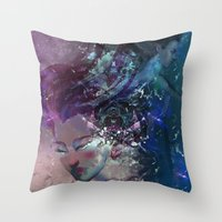 Black Hole Apprehension Throw Pillow